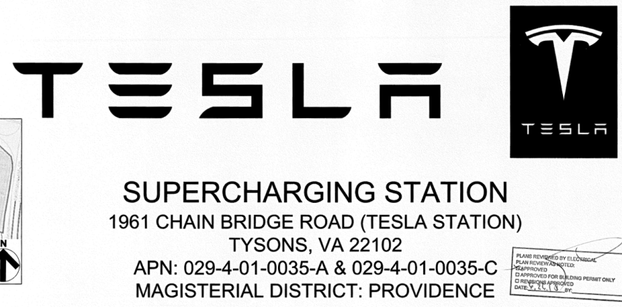 Tesla Supercharger Plans Tysons, VA