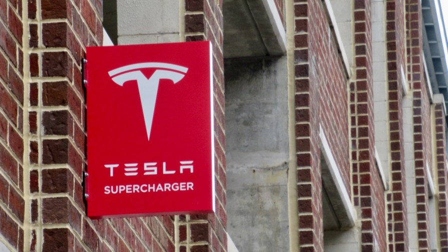 Baltimore Tesla Supercharger Sign