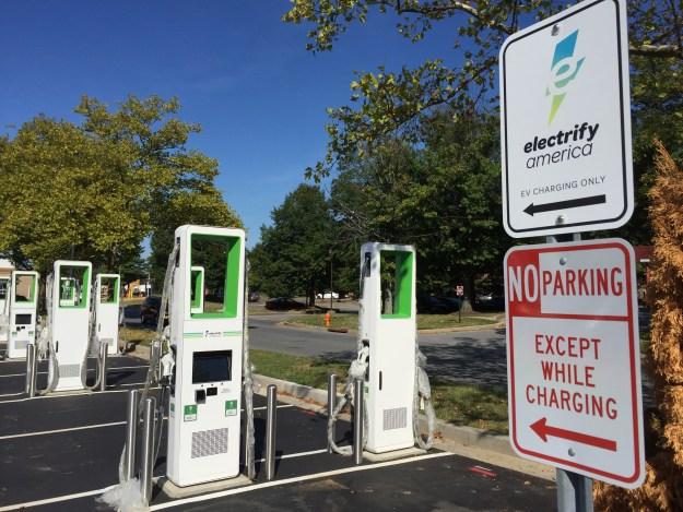Electrify America EV Signs