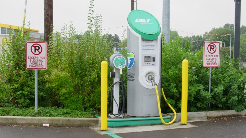 West Coast Electric Highway CHAdeMO in Woodburn, Oregon