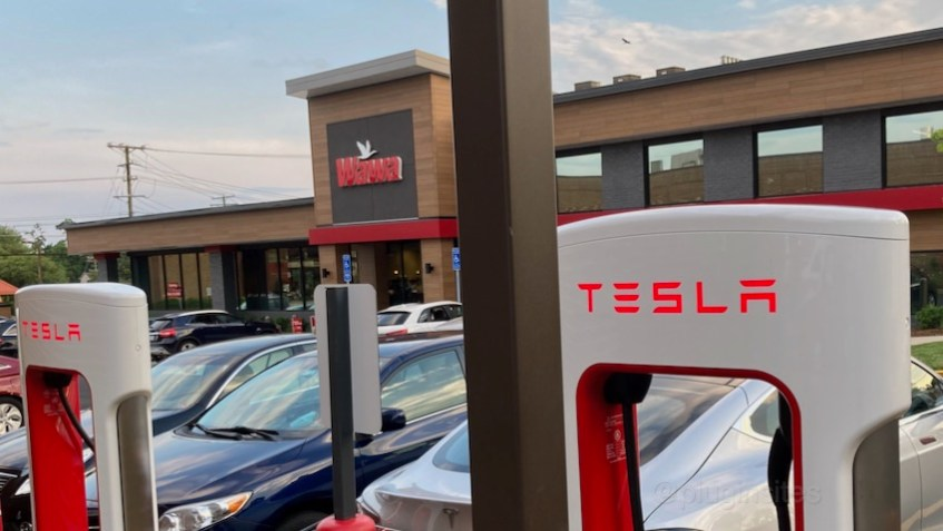 Wawa Tesla Supercharger