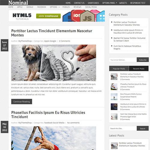 MyThemeShop Nominal WordPress Theme