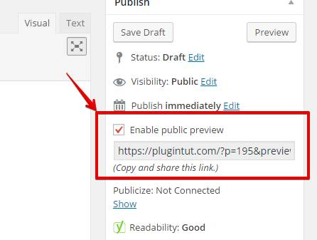 Copy/paste your shareable link