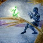 moon light mantis: water color sketch