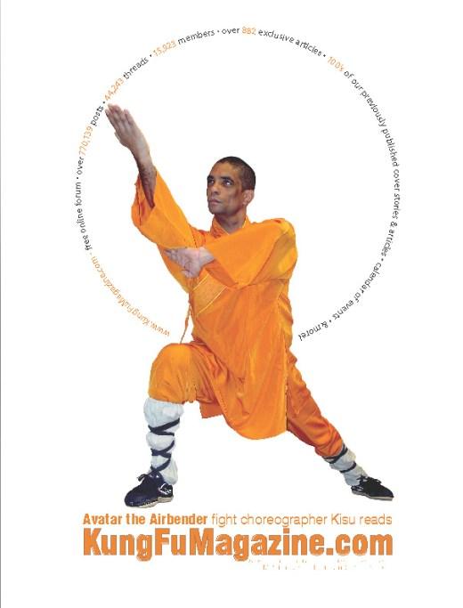 Master Kisu featured in KungFuMagazine print advertising