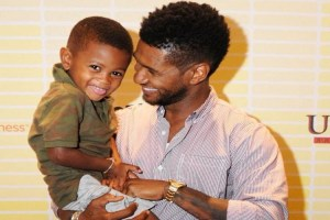 Usher Raymond and son