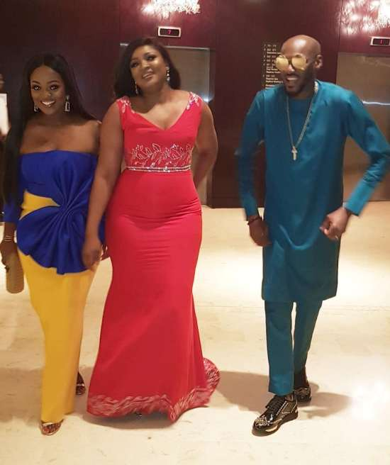 Omotola Jalade-Ekeinde with 2baba at the 5th AFRIMA in Ghana
