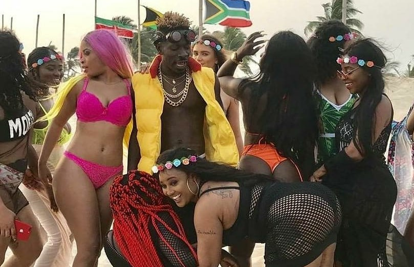 Watch Hot BTS Moments of Shatta Wale 'Island' Music Video