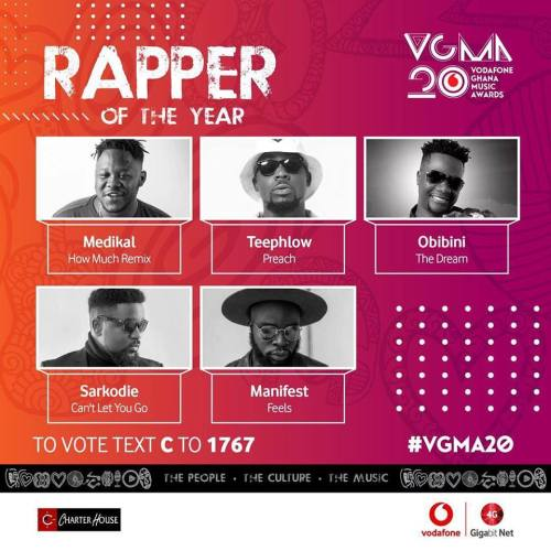 2019 VGMA Rapper of the Year nominees