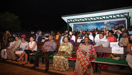 Sector Minister Shirley Ayorkor Botchwey seated during the La Francophonie Week 2019