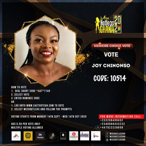 Miss Hotlegs Ghana 2020 contestant Joy