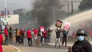 ndc protesters ec headquarters election results
