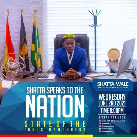 LIVE STREAMING Shatta Wale Speaks Nation State of the Industry Address