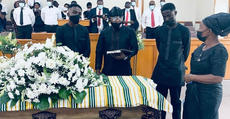 Keche Andrew dad father burial funeral