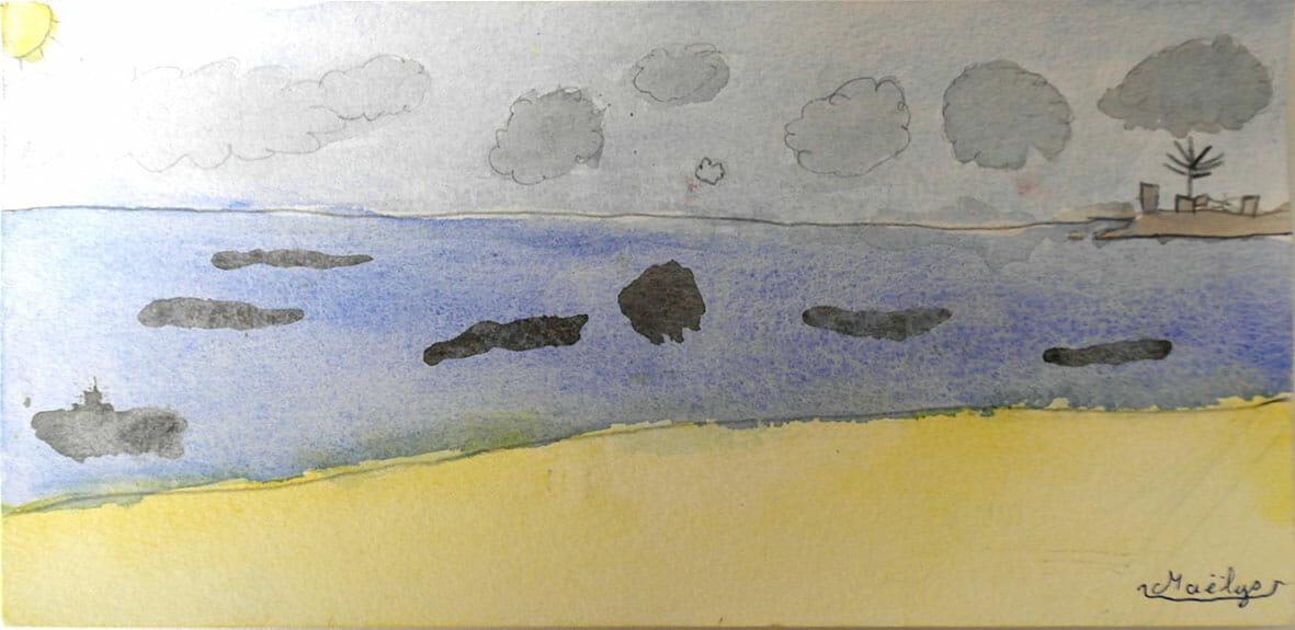 aquarelles joue avec plum