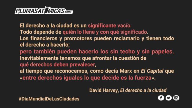 Derecho a la ciudad, David Harvey