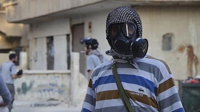 ataque químico máscara