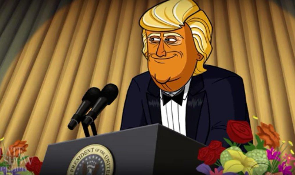 Comey toon Trump