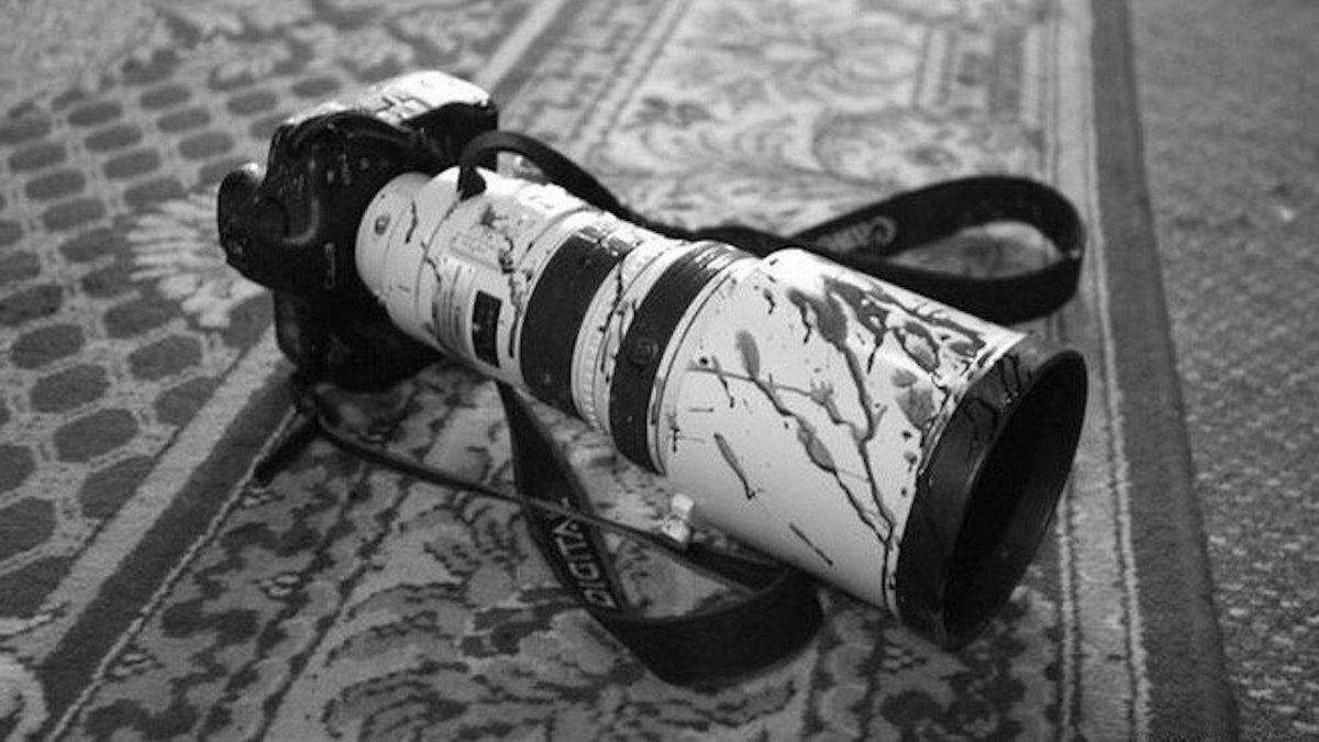 cámara, cámara ensangrentada, periodistas, periodismo, periodistas asesinados, Edwin Rivera