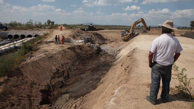 NAICM construcción, mineras NAICM, NAICM texcoco, texcoco aeropuerto,