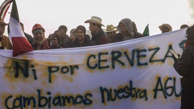Plantón de Mexicali Resiste enfrenta al estado y a EPN