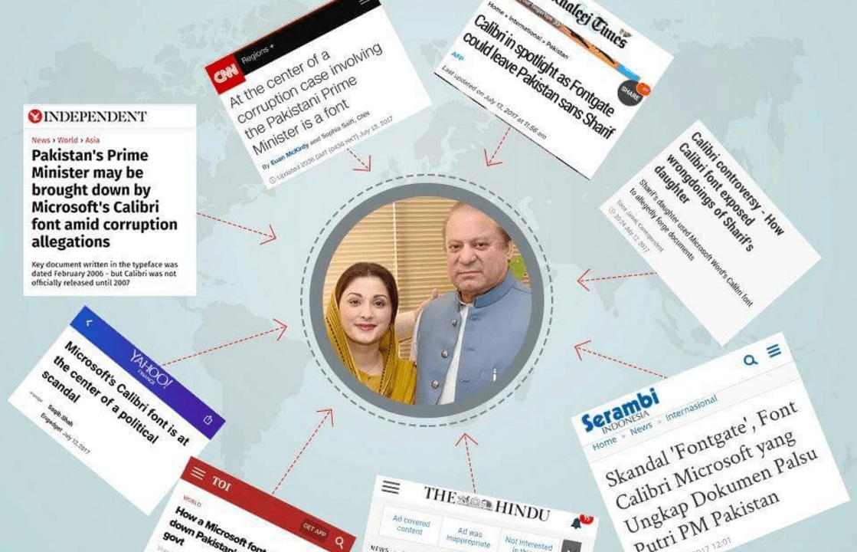 El FontGate de la fuente Calibri obliga a dimitir en Paquistán.