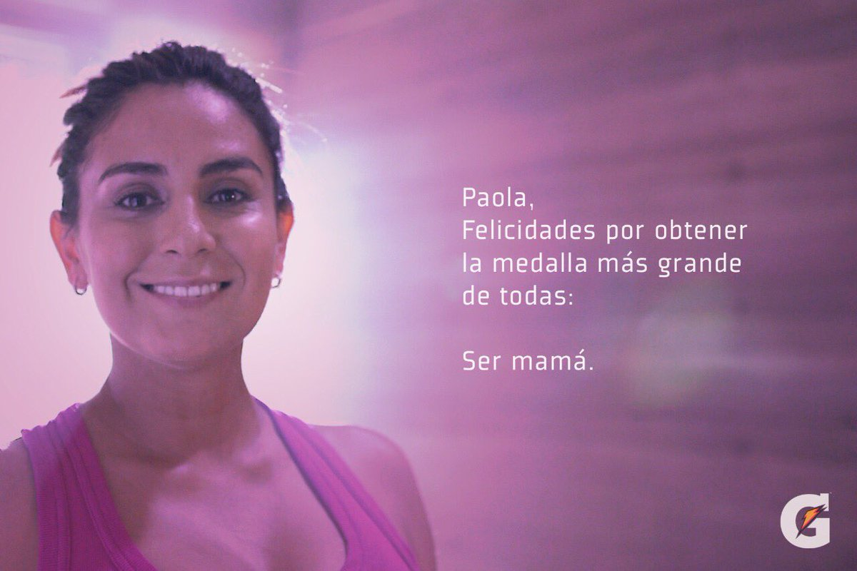Gatorade felicita mal a Paola Espinosa por ser madre