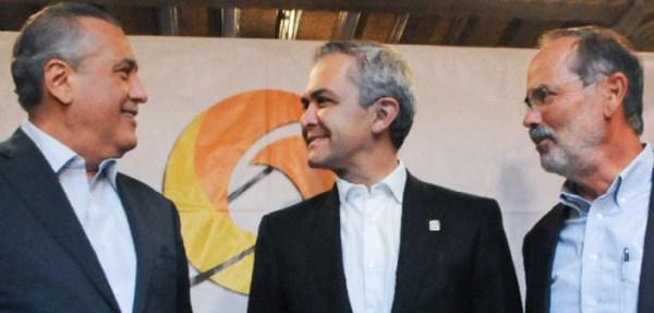 Mancera, Beltrones y Madero piden gobierno de coalición en 2018