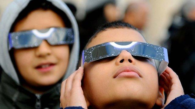 clipse solar, niños en coahuila, niños, ciegos, ojos
