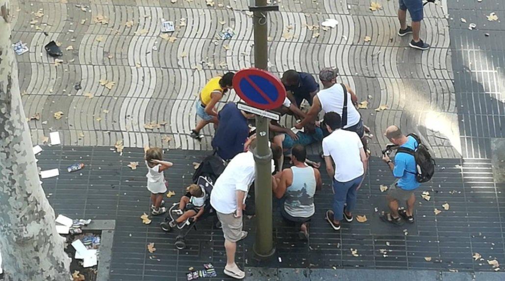 Un atropellamiento en La Rambla de Barcelona deja varios heridos