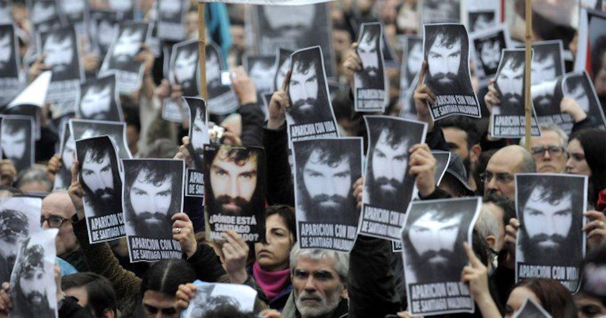 argentina, desaparición forzada, santiago maldonado, protestas argentina, desaparción, argentino, rostro santiago