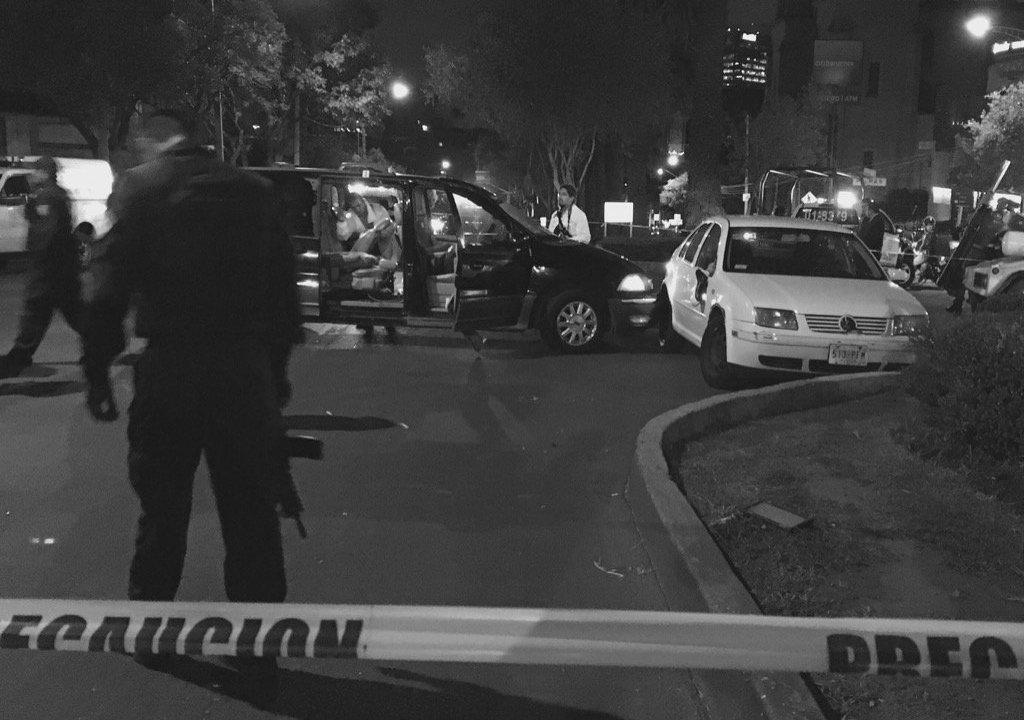 persecusión y balacera en Lomas de Chapultepec