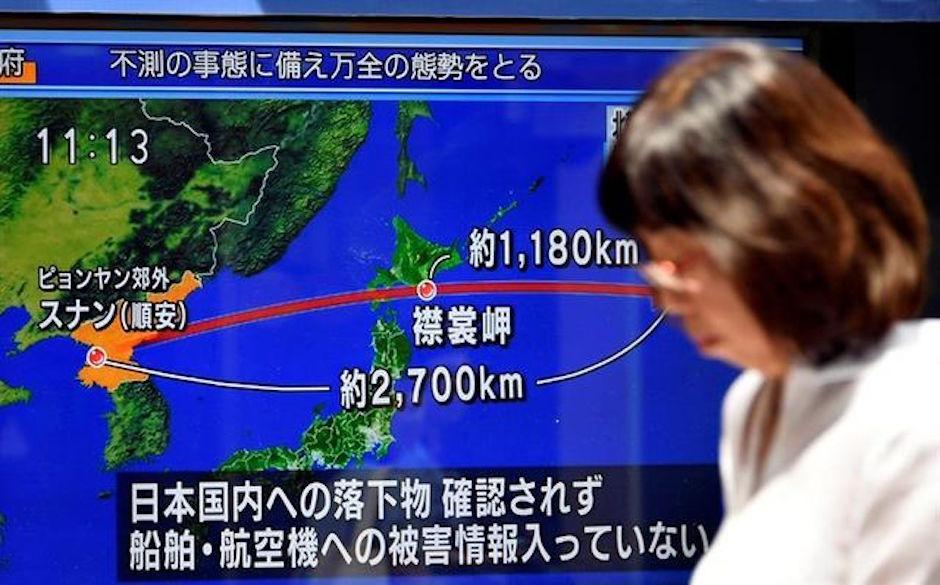 Corea del Norte, Japón, misil, Ensayos Nucleares