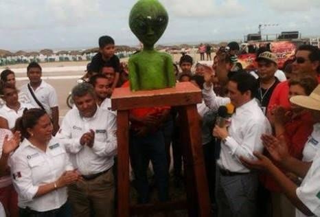 Ovnis también tienen su monumento en México