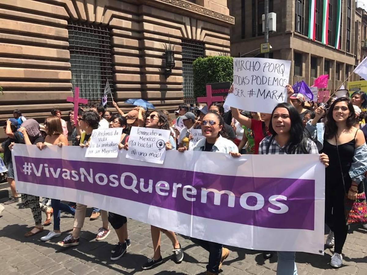 marcha, mara castilla feminicidio, ni una mas, ni una menos