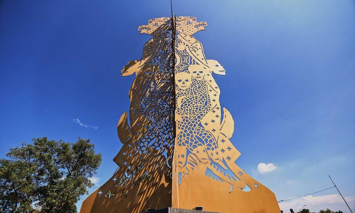 sincretismo guadalajara, arte público guadalajara, escultura, jalisco, protestas