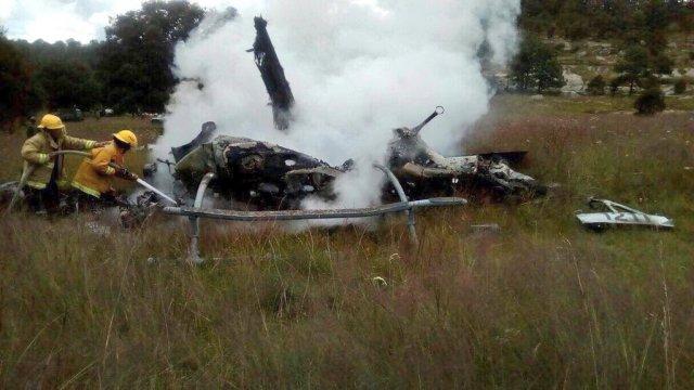 sedena helicoptero se desploma en durango