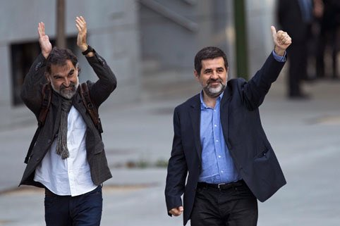 Líderes independentistas catalanes a la cárcel