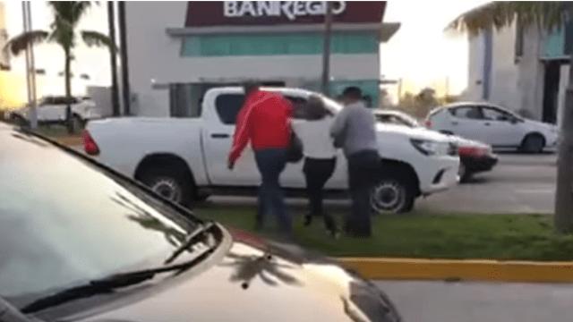 detención arbitraria policias veracruz video parroquia mujer