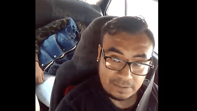 video de taxista en Puebla exhibe a joven