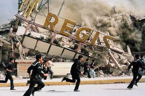 Hotel Regis, memorial de los muertos de 1985