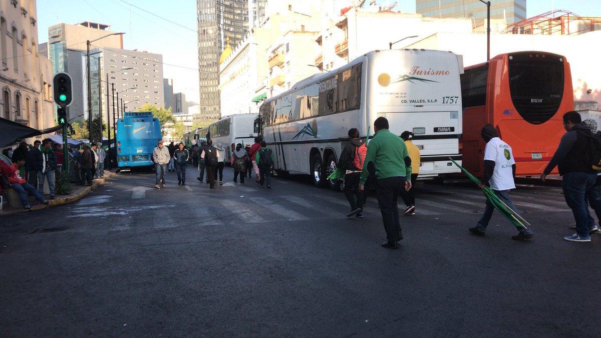 protestas en avenida bucareli, campesino exigen acuerdos
