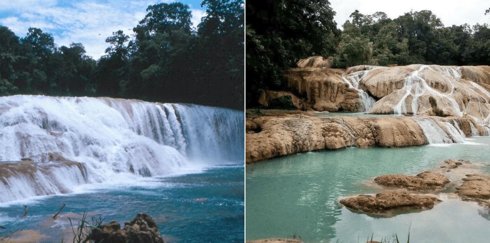 Agua Azul Chiapas río sismo seco