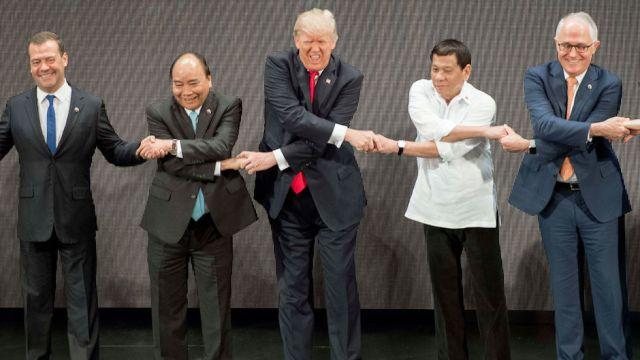 Trump siendo Trump en Filipinas, ay Trump