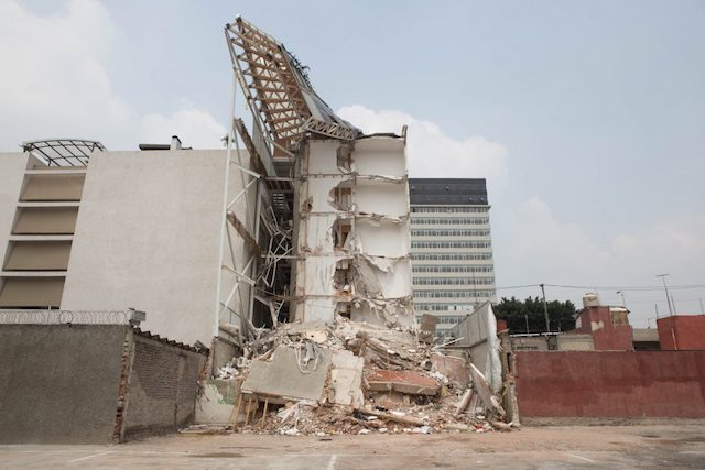 Inmueble de Zapata 56, el cual colapsó por sismo de 19S