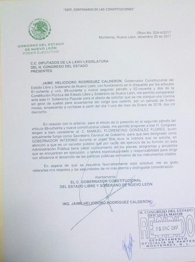 bronco licencia