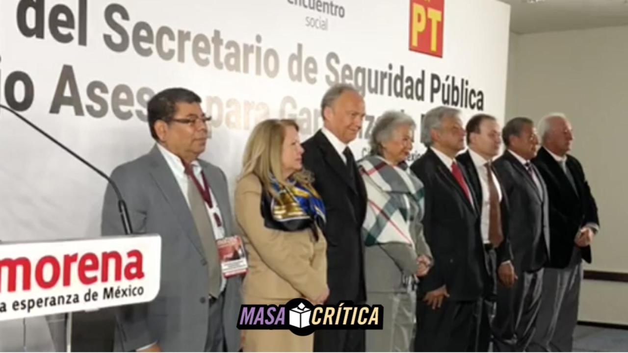 AMLO presenta secretario y plan de Seguridad Pública