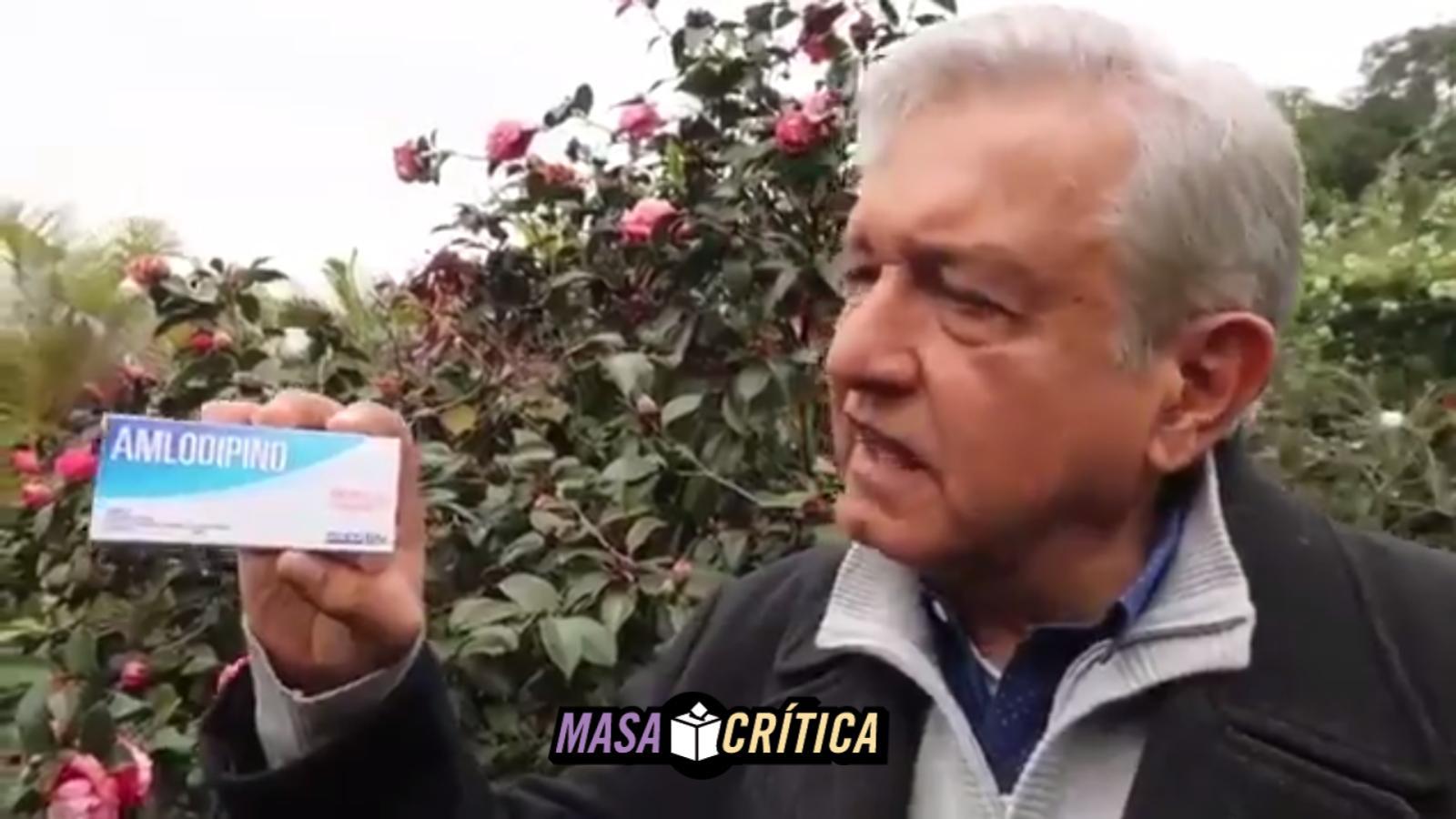 AMLO receta Amlodipino a EPN para que 'se serene'