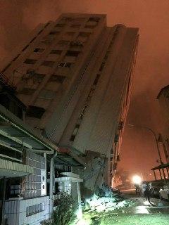 Sismo de 6.1 grados en Taiwán deja daños graves