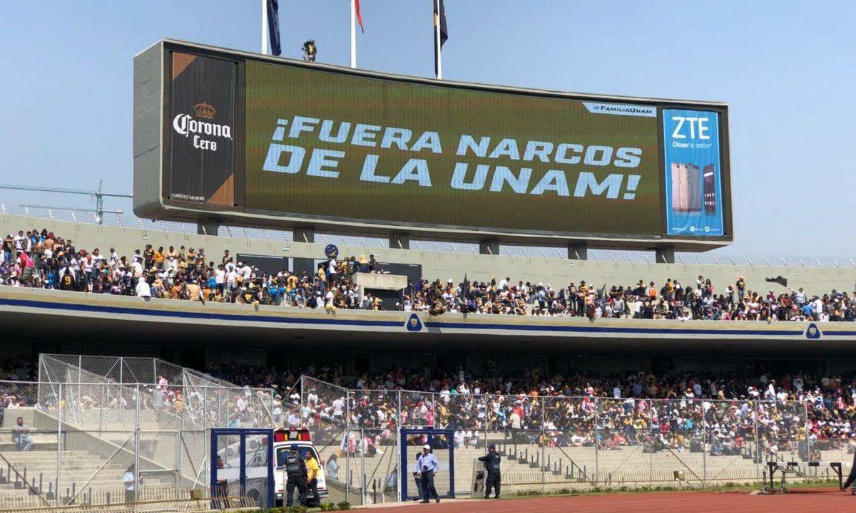 Fuera Narco de la UNAM, en Estado Universitario